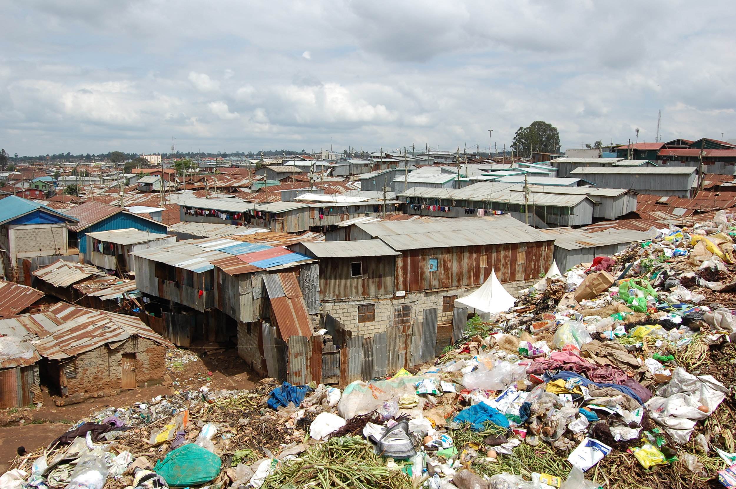 """Kibera is composed of 14 different villages. Pictured here is Linesaba which means """"tough warrior"""" in Nubian."""