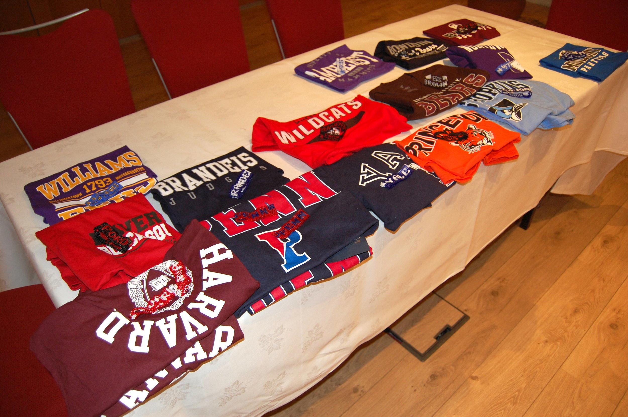 KENSAP tshirt table.JPG