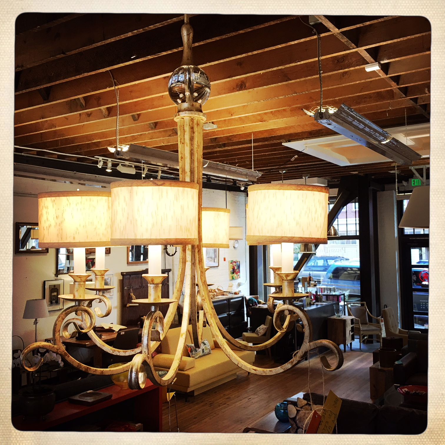 "6 arm Lucy Chandelier from Candace Olson  30.5""W x 30""H  $225.00"