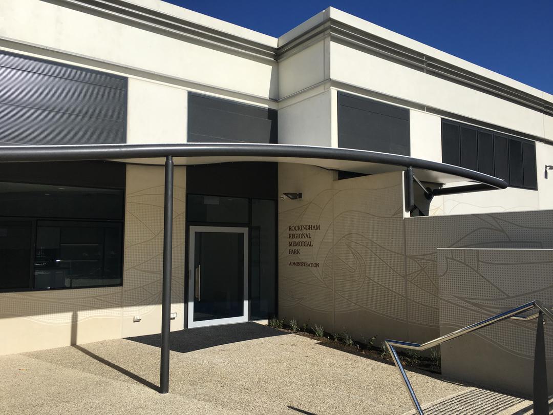 Crematorium entrance, Rockingham Regional Memorial Park