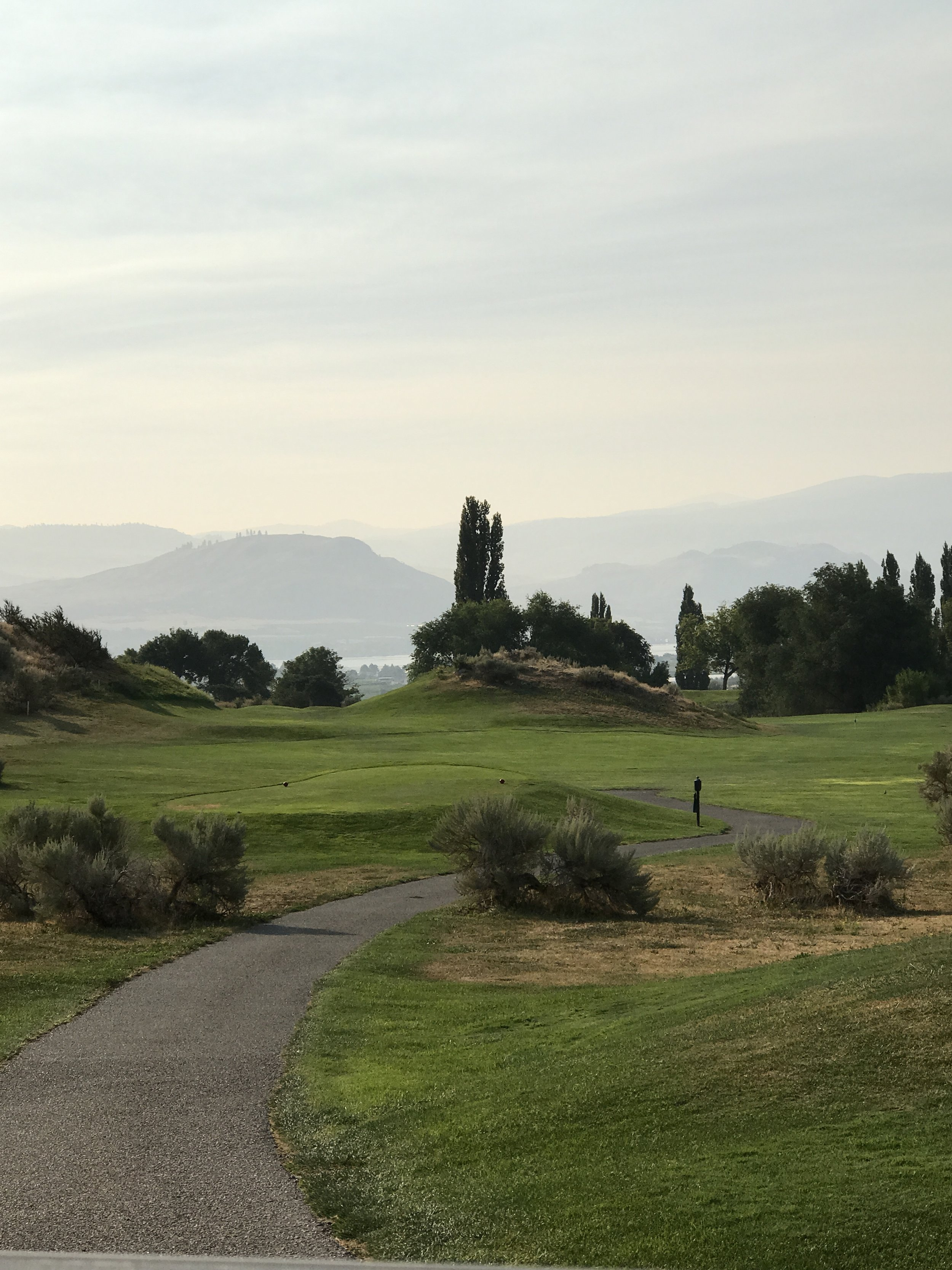 Those hills. My eyes. (Golfing at  Osoyoos Golf and Country Club )
