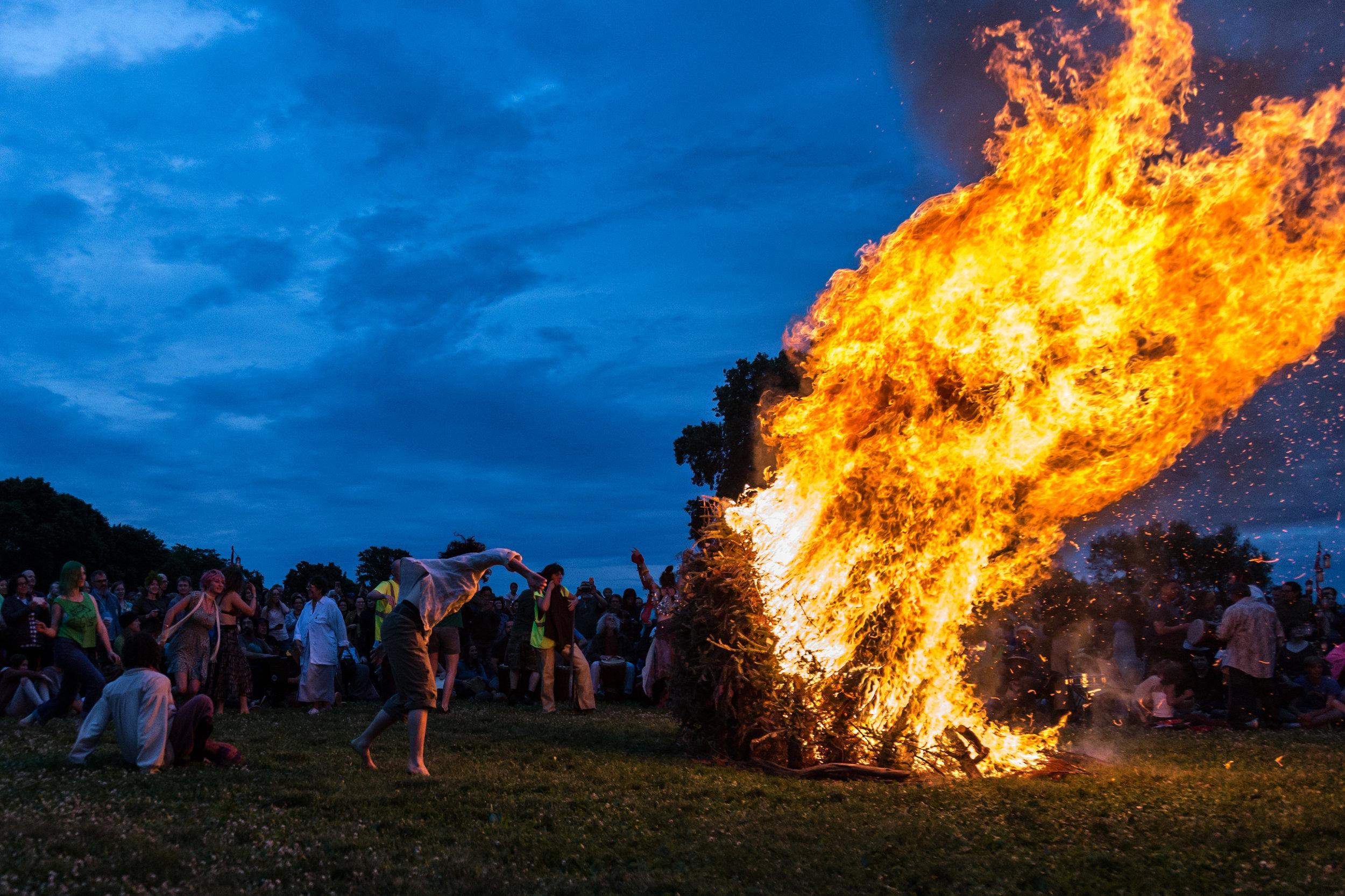 Summer Solstice Bonfire, 2019  Madison, WI