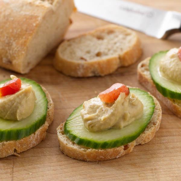 Hummus and Cucumber