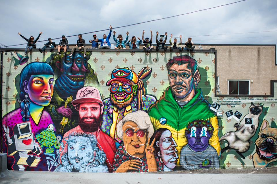 Mural curated by Kevin Ledo in Montreal, Canada, 2015. Photo by Alison Slattery
