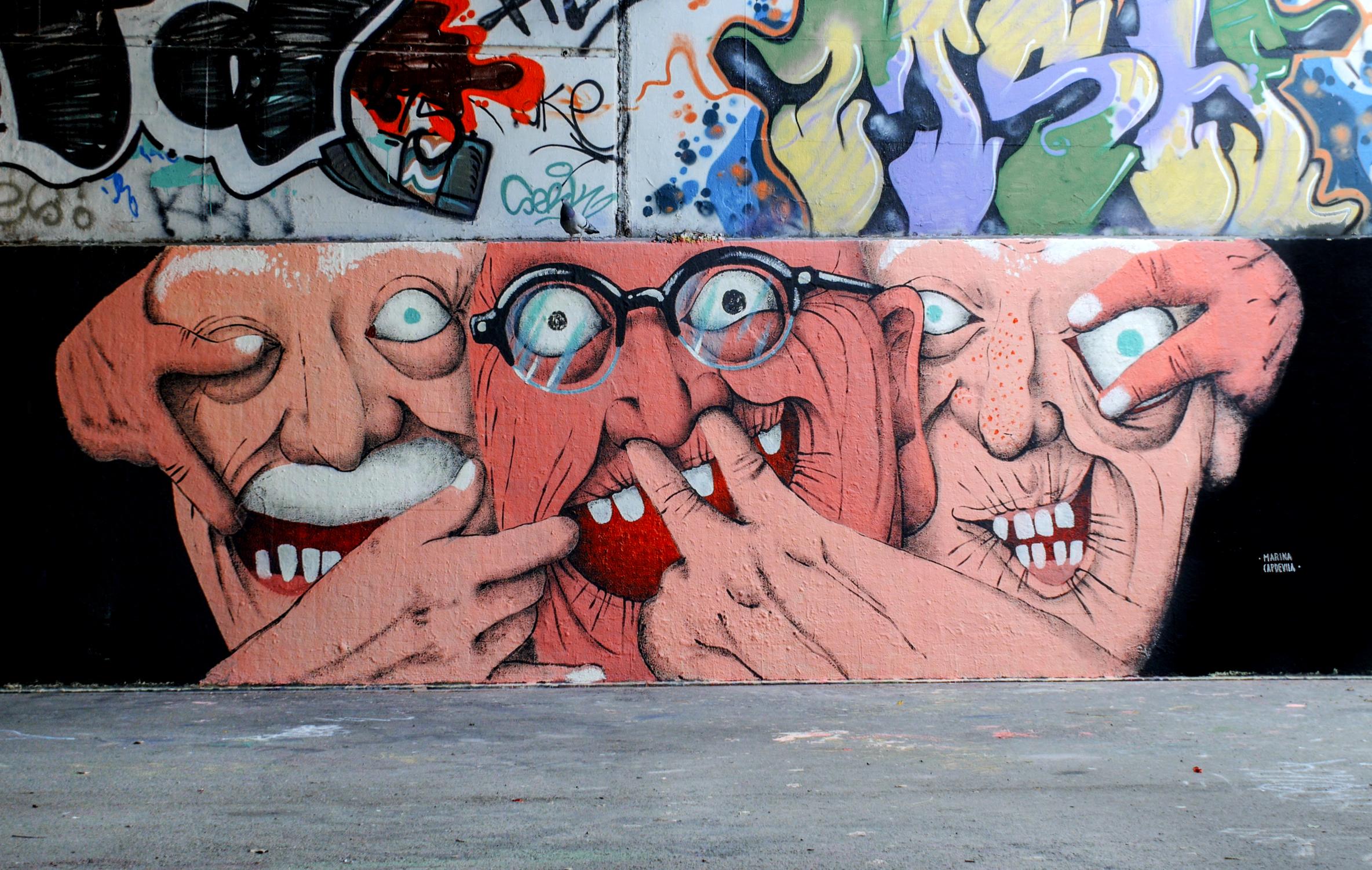 Mural painted in Barcelona, Spain. 2016