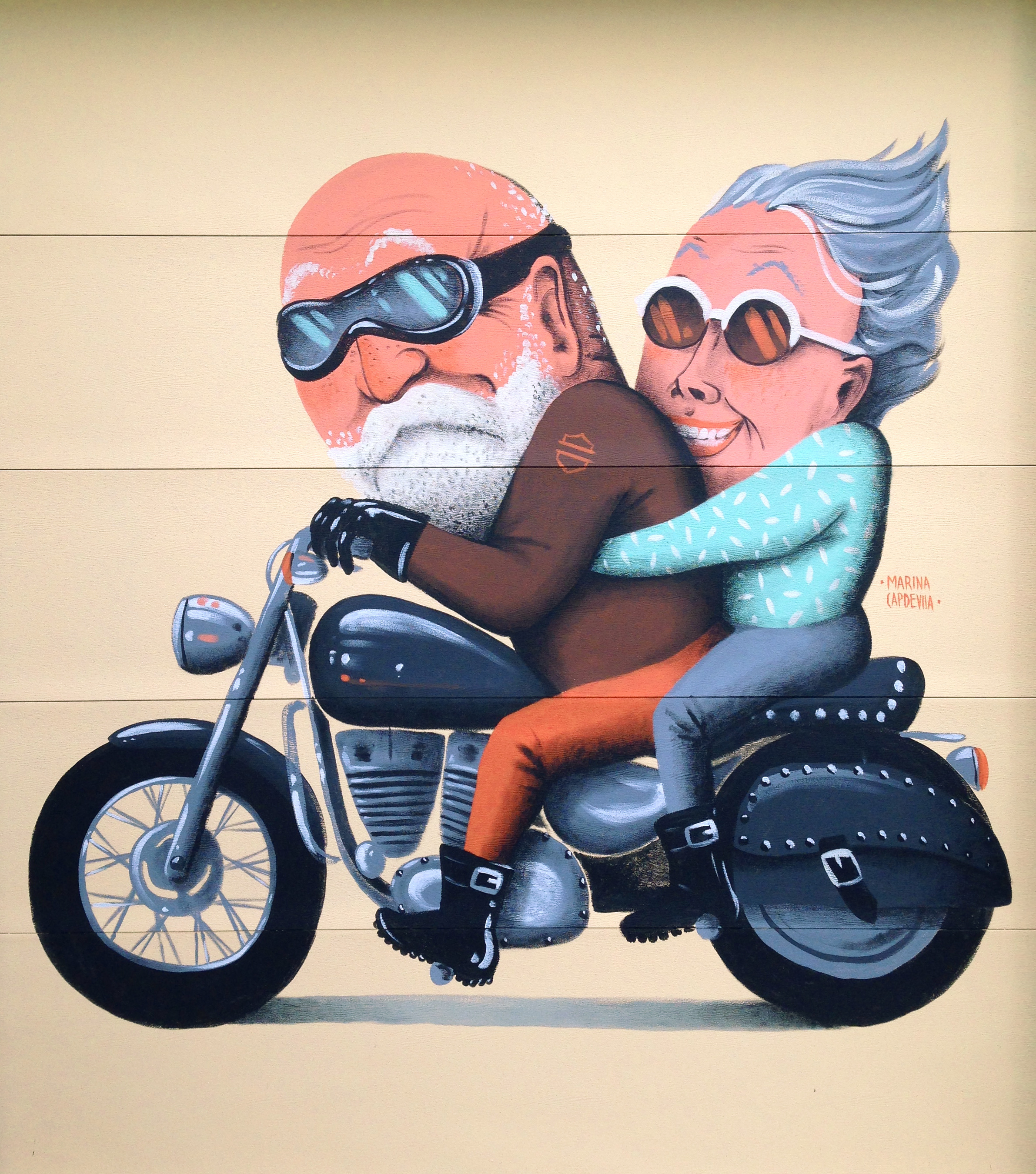 mural painted at Newman's house in Burlington, Vermont, USA 2015