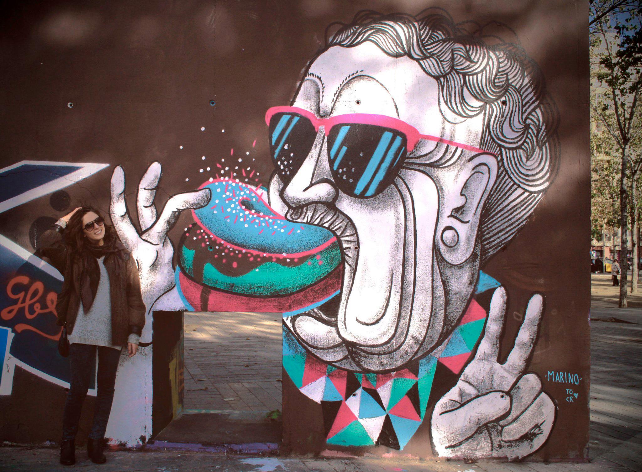 Mural painted at 3 Xemeneies park, Barcelona 2014