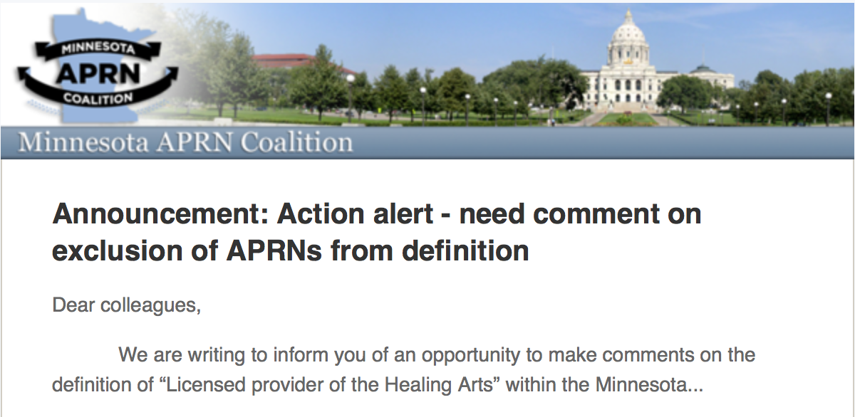 View full announcement on the Minnesota APRN Website