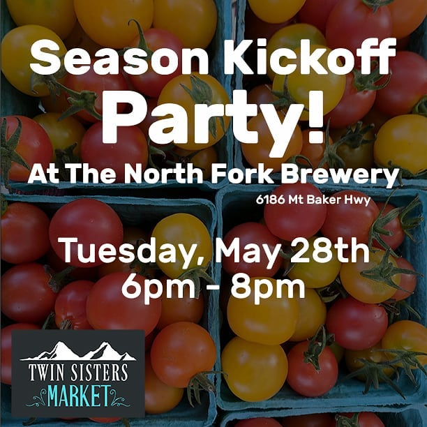 The 5th season of the Twin Sisters Market is starting June 1st! Come to the @north_fork_brewery  to celebrate by drinking beer, eating pizza, and listening to the wonderful @mary_liz_vonk play some tunes! Plus lots of raffle prizes! . . #nonprofit #farmersmarket #eastwhatcom #northforkbrewery #fundraiser #communityevent #twinsistersmarket