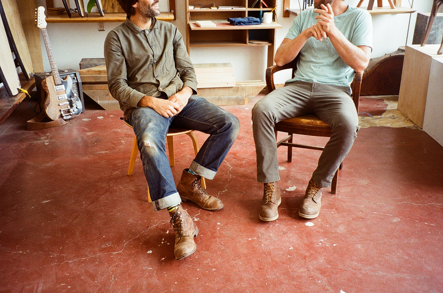 Luke and Danny wearing  Red Wing Heritage boots .