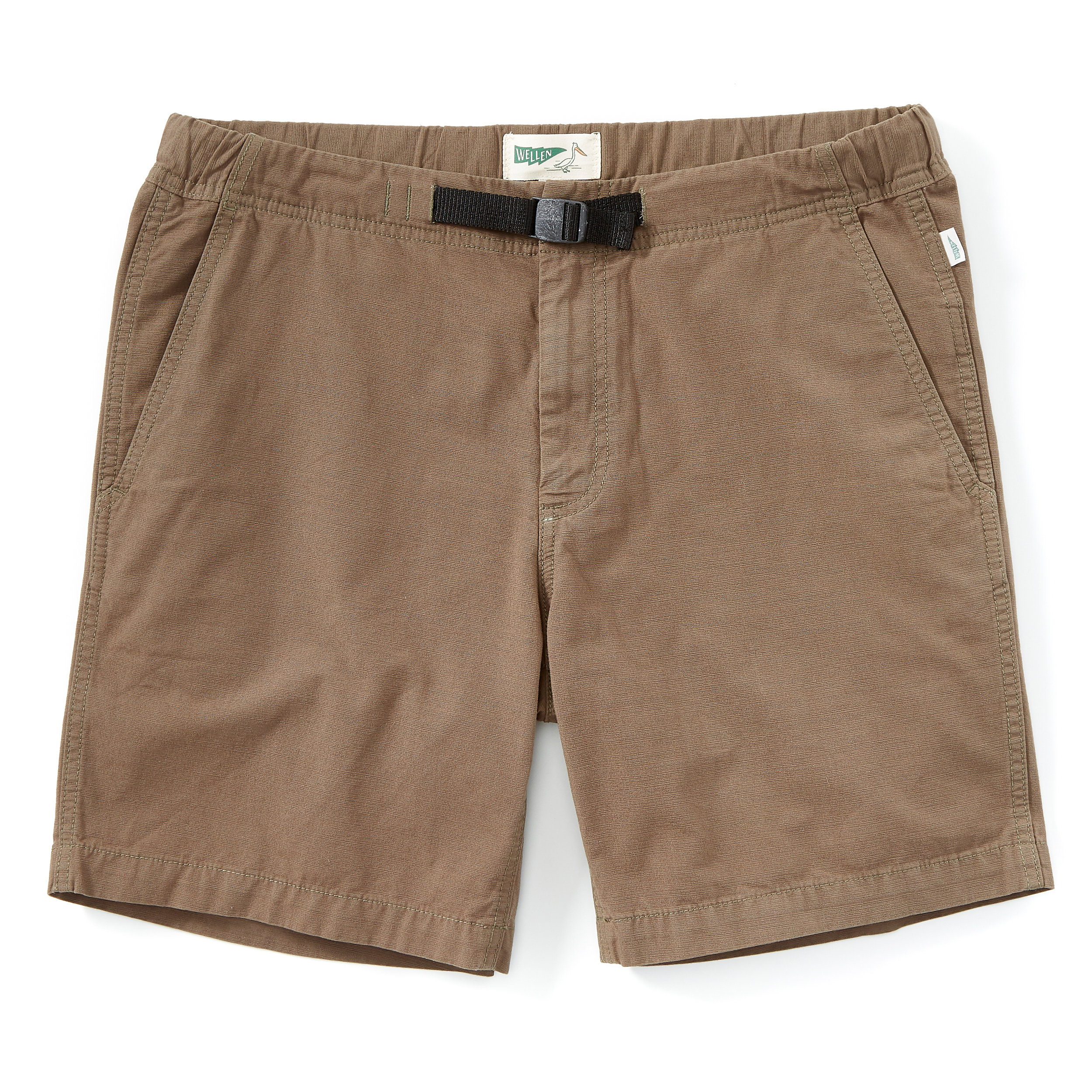 Wellen Cruiser Short - These shorts rule. An elastic waistband, built-in cinch belt, and zippered back pocket. Everything you need and nothing you don't.