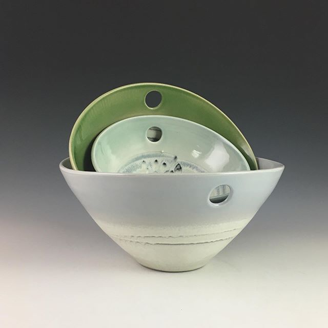 Nesting bowls in beautiful downtown Arbor Heights