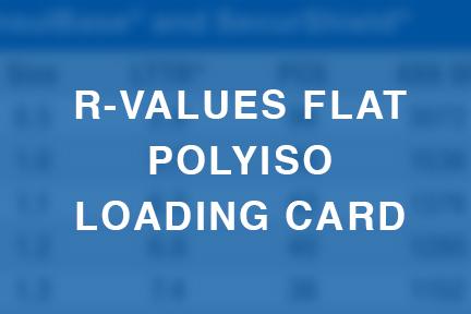 R-values Flat Polyiso Loading Card