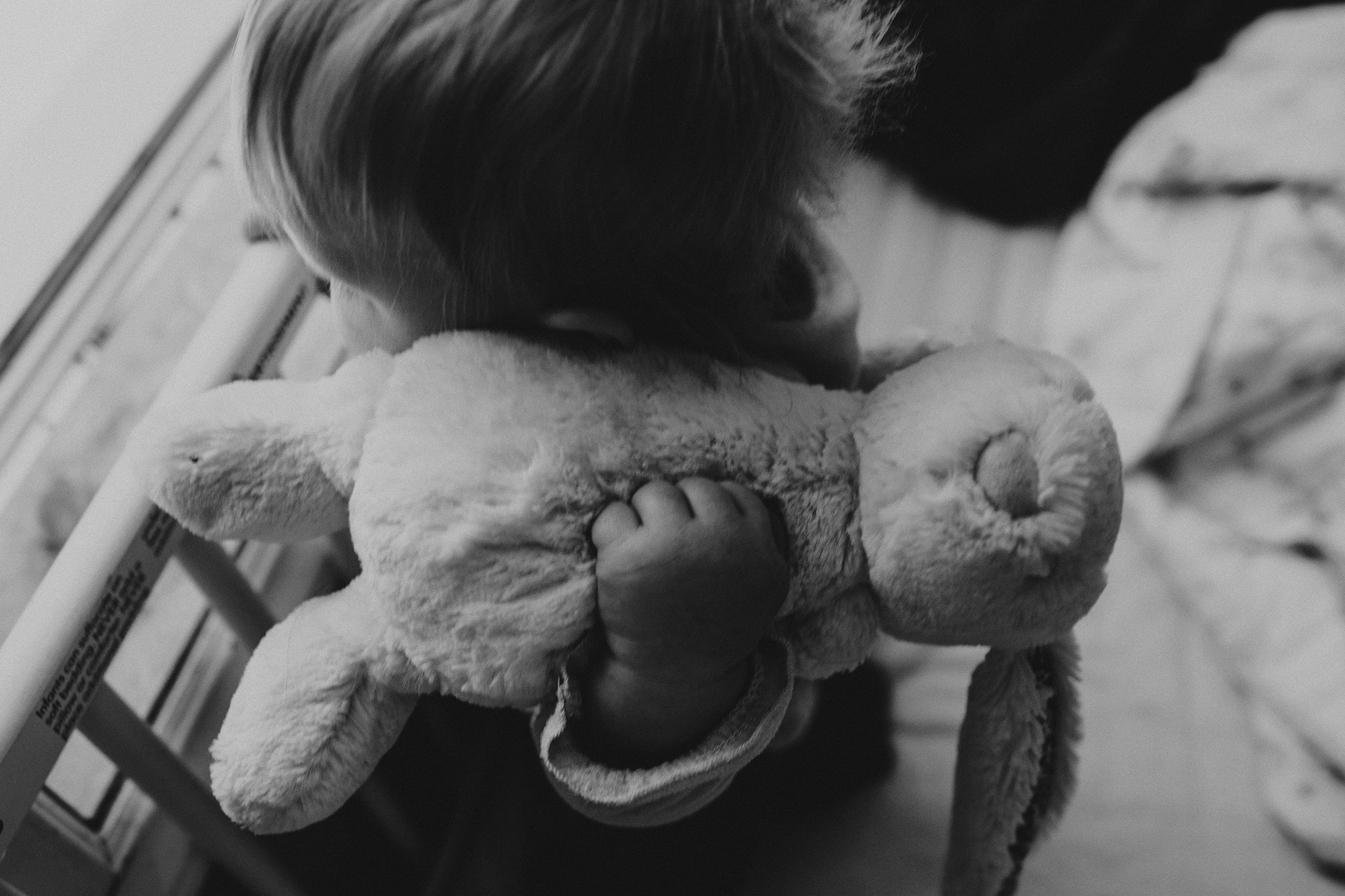 9. 365 - The way she holds her bunny to her ear and leans her cheek in to it's fur pulls my heartstrings.