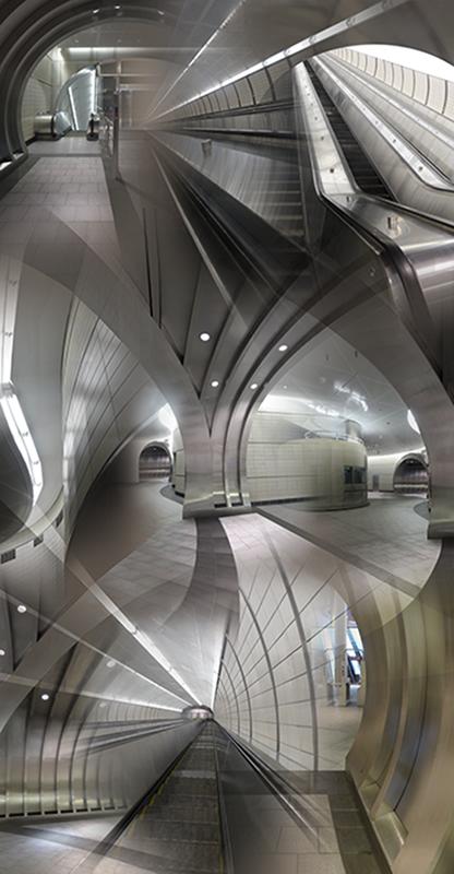 "34th Street Station (Interior) , 2016, Digital print, 48 x 96"""