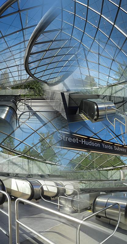 "34th Street Station (Pavilion) , 2016, Digital print, 48 x 96"""