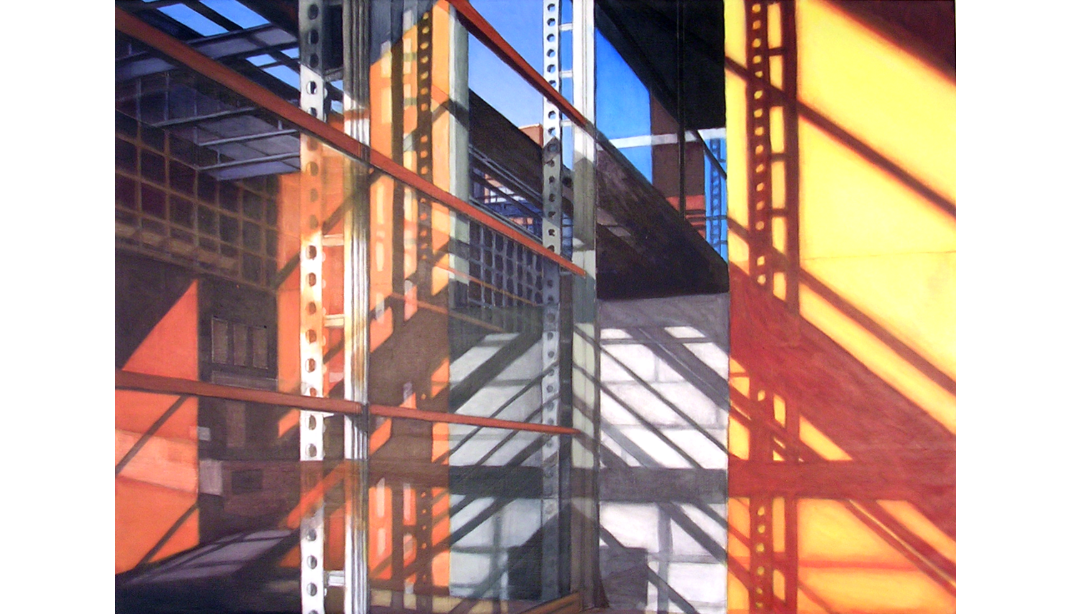 Study for Shadows & Reflections 1 , 2009, Acrylic on linen, 22 x 30""