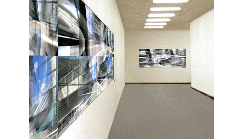 David L. Lawrence Convention Center, Digital print on adhesive vinyl, 2008, 60 x 5' (installation shot)