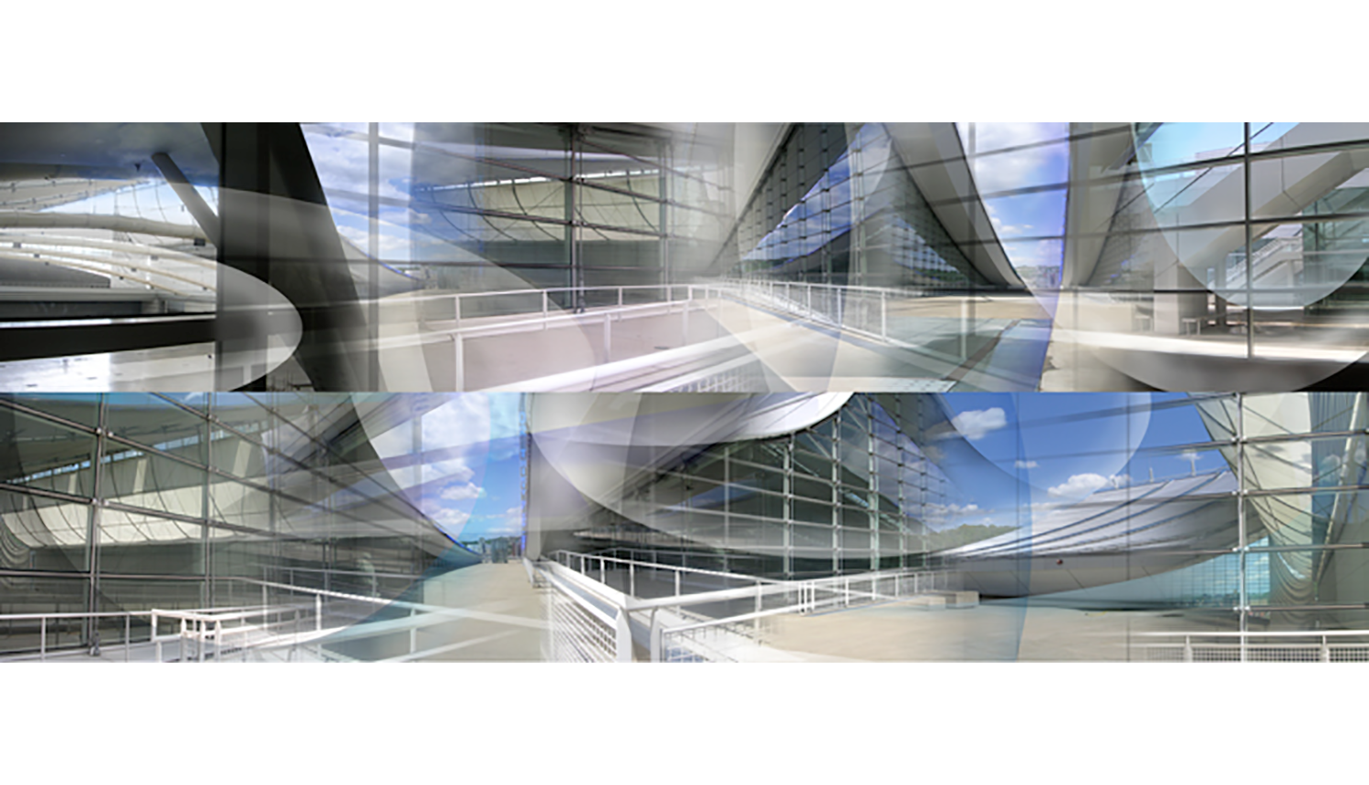 """Lawrence Convention Center,  2008, Digital print on paper, 20 x 50.75"""""""