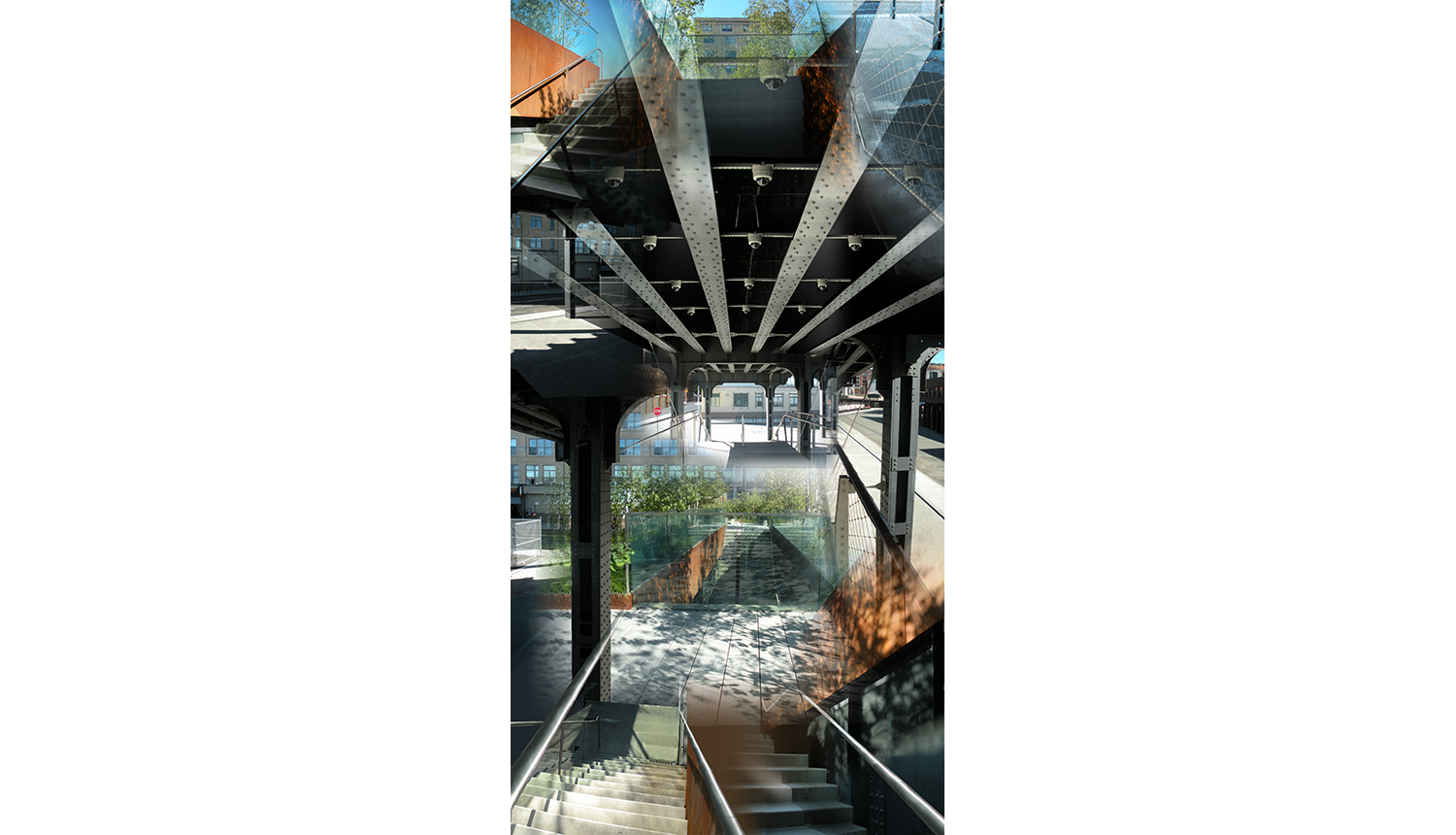 High Line Six (Gansevoort) , 2010, Digital C print, 26 x 50""