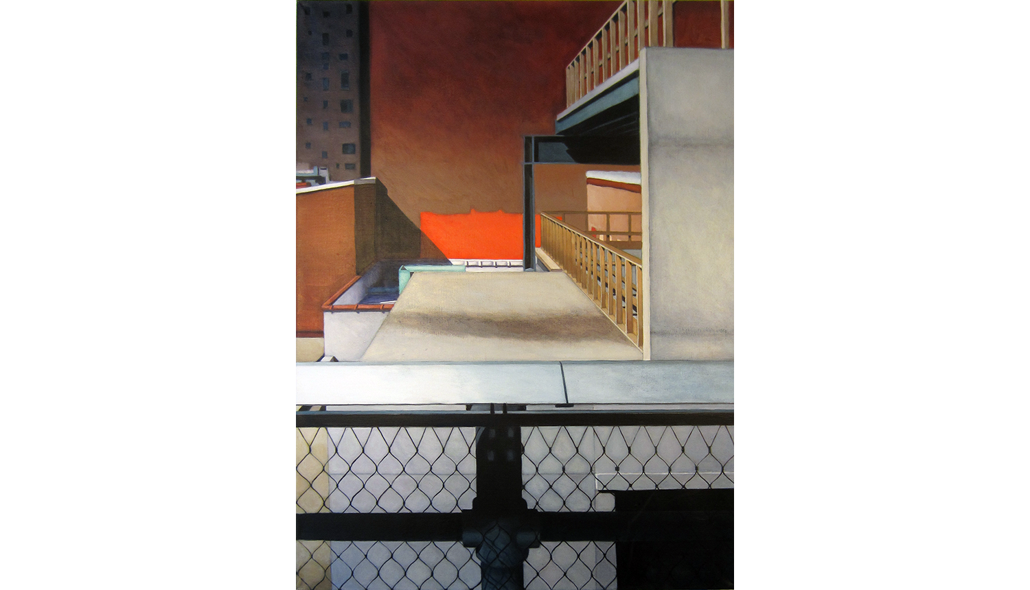 High Line (View Four),  2011, Acrylic on linen, 30 x 40""