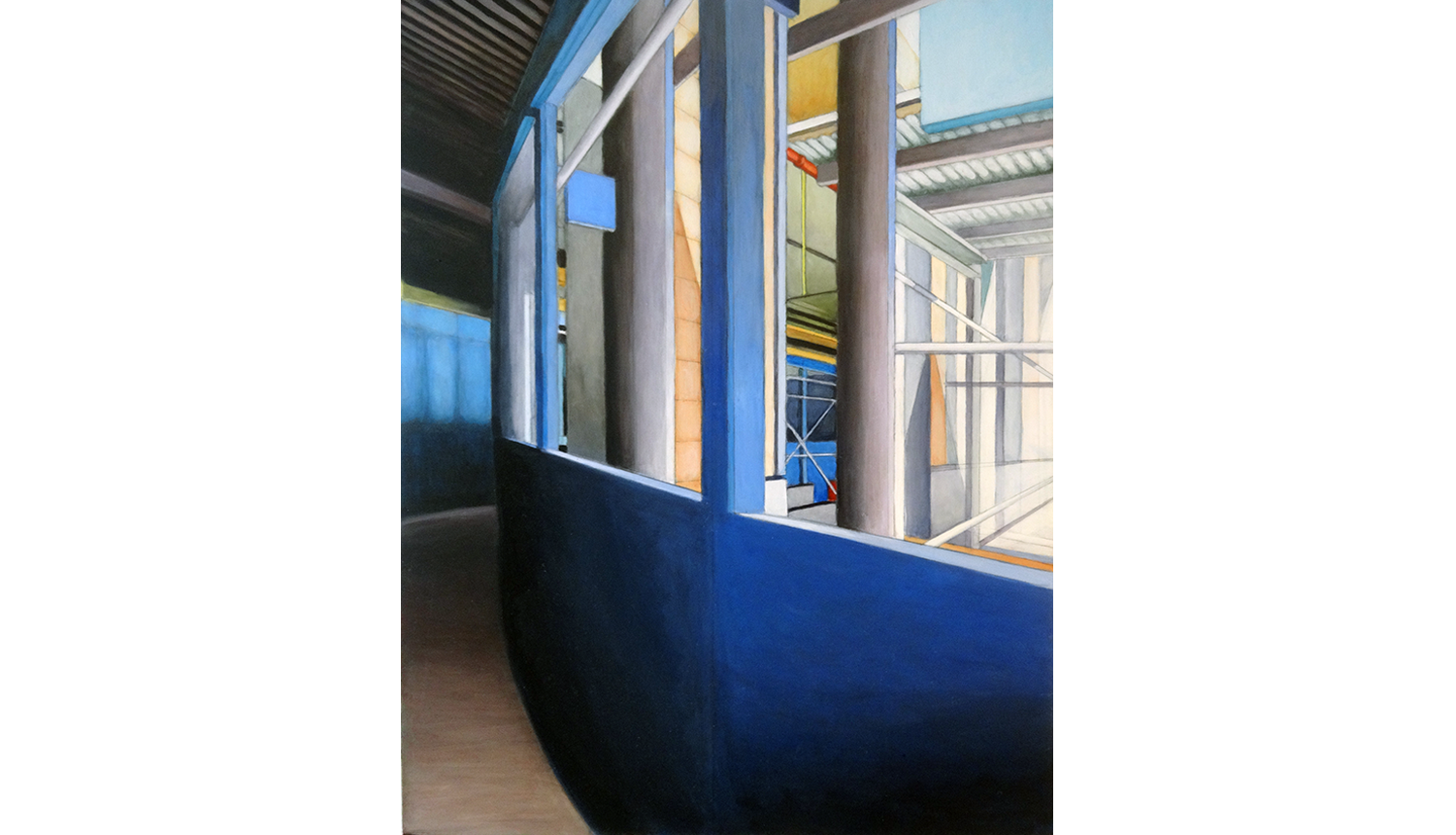 Construction,  2011, Acrylic on board, 18 x 24""