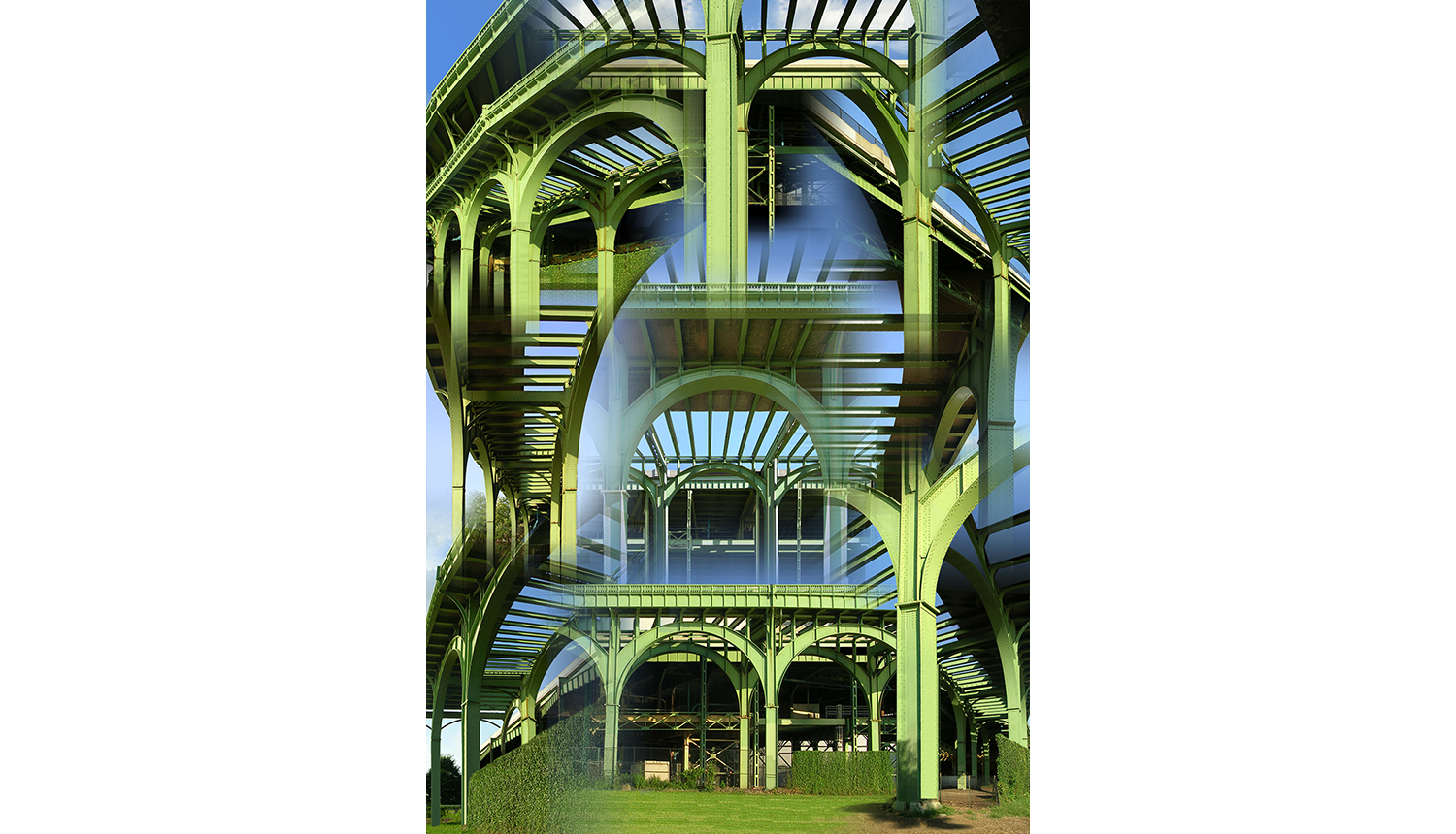 Green Arches,  2014, Digital print on paper, 40 x 55""