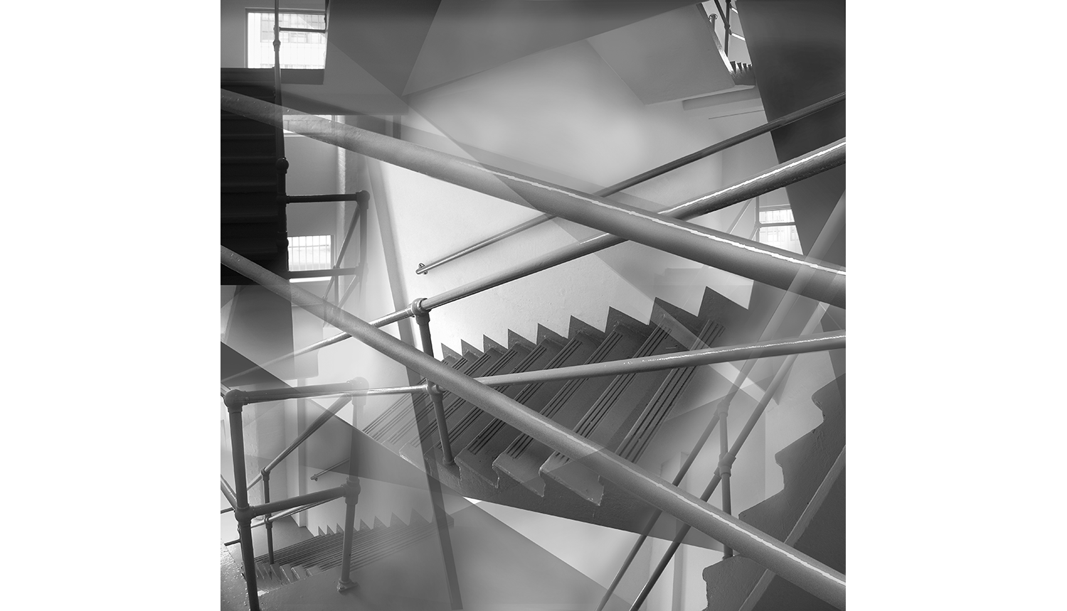 Stairs , 2007, Digital print on paper, 14 x 14""