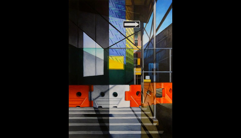 "Houston Street , 2017, Acrylic on board, 30 x 40"""