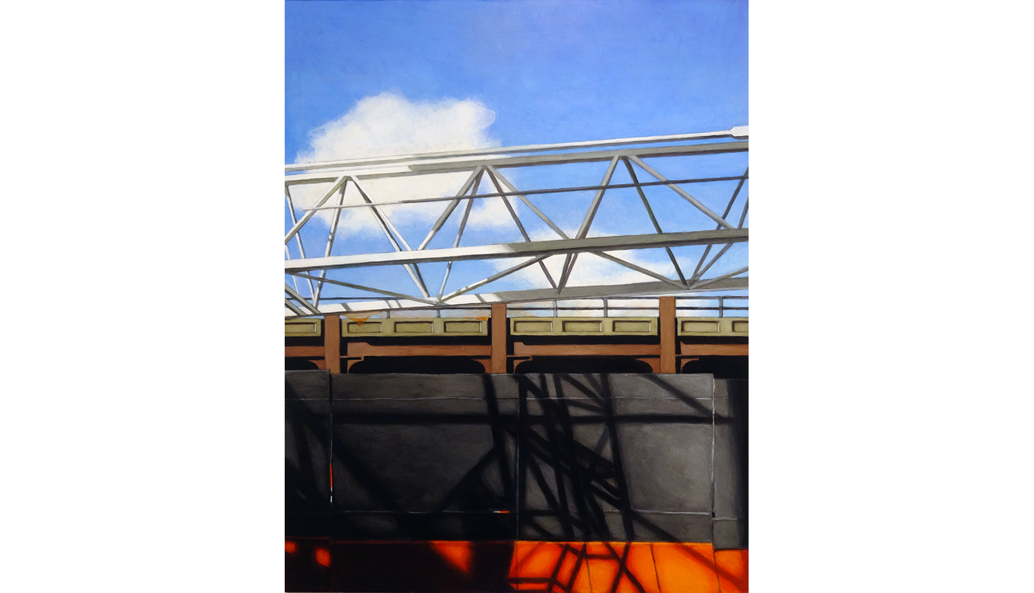 Hudson Yards 2, 2015, Acrylic on board, 18 x 24""