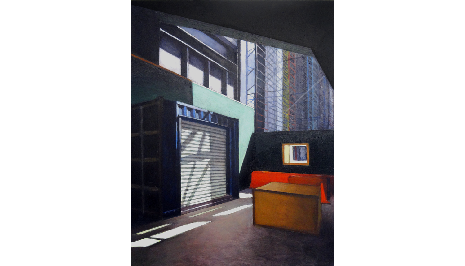 Hudson Yards 9, 2015 , Acrylic on board, 12 x 16""