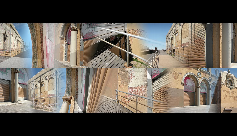 """On the Boardwalk , 2011, Digital print on paper, 78 x 29.5"""""""