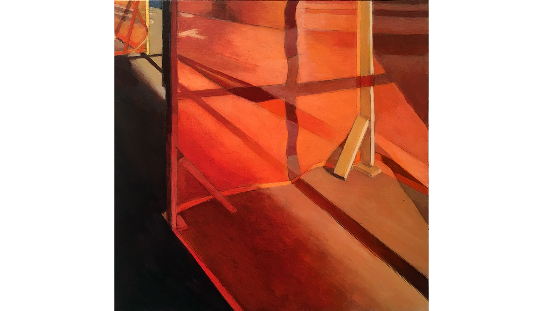 "Orange 2 , 2017,  Acrylic on board, 8 x 8"""
