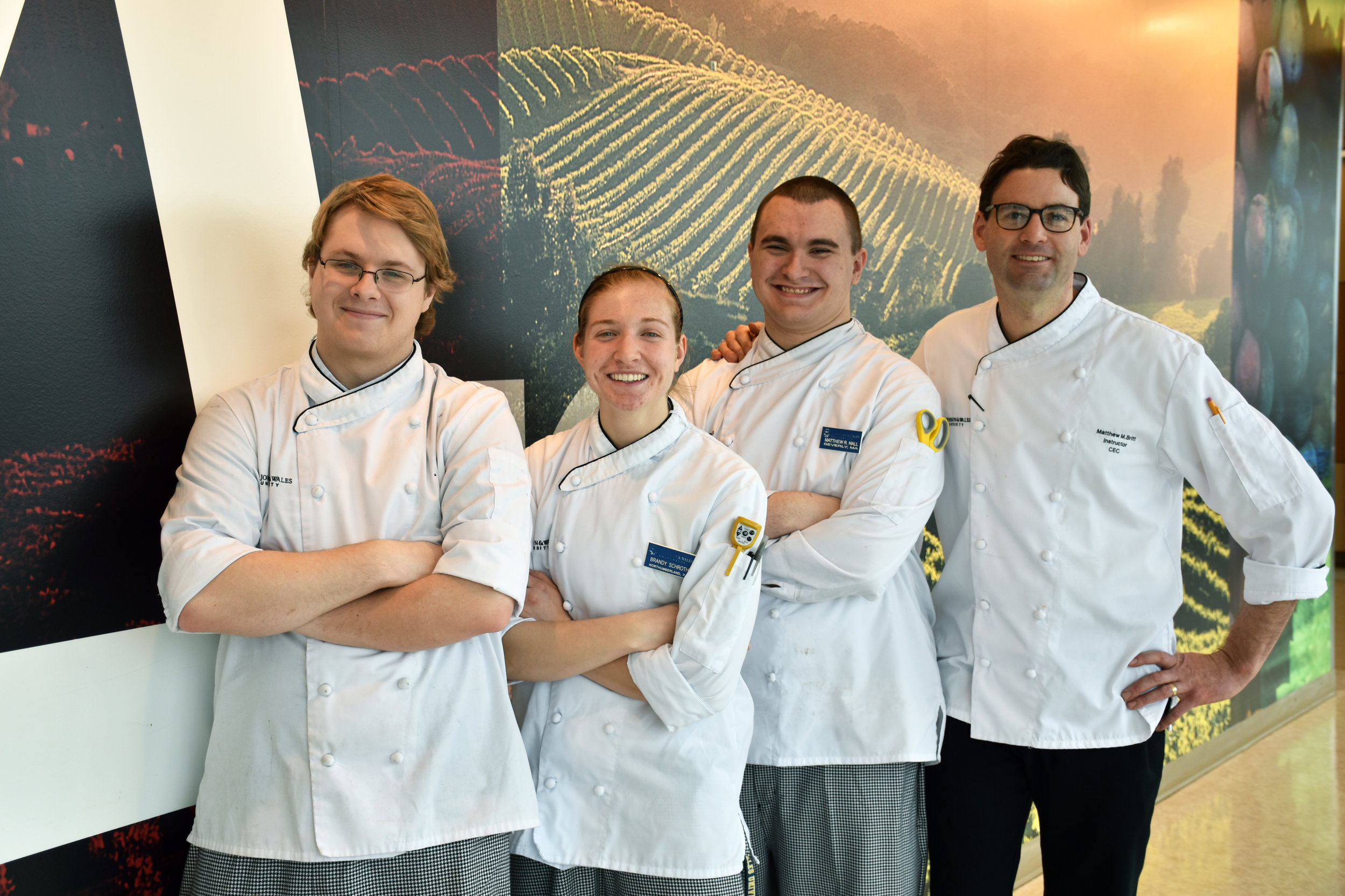 Essex Fried Clams team: Jake Vincent '20, Brandy Schroth '20, Matthew Hall '20, and Chef Matthew Britt (missing from photo is Idacia Miles '20)