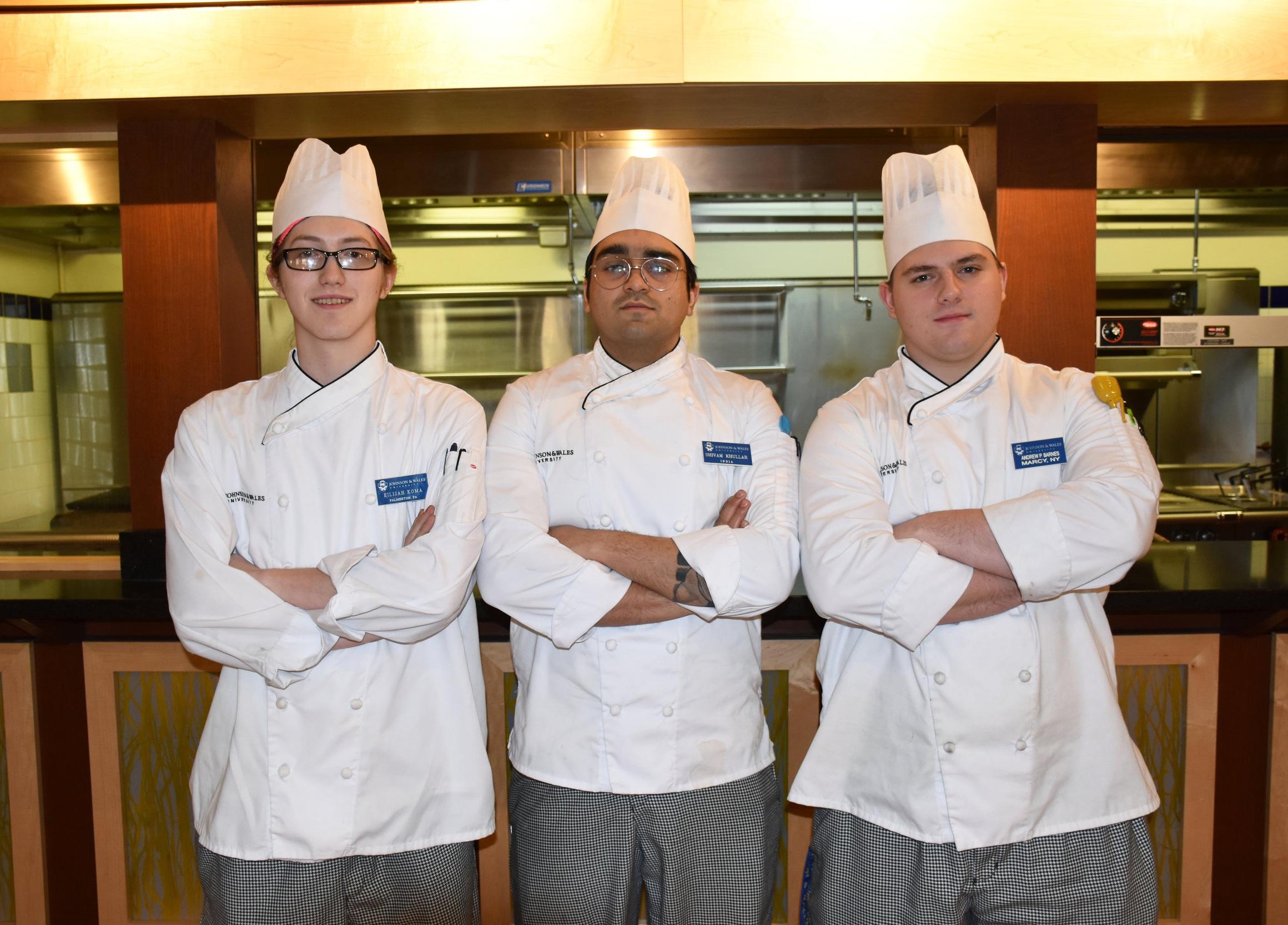 Pork Hand Roll team: Elijah Koma '20, Shivam Khullar '19 and Andrew Barnes '20 (missing from photo is Tyler Glick '20)