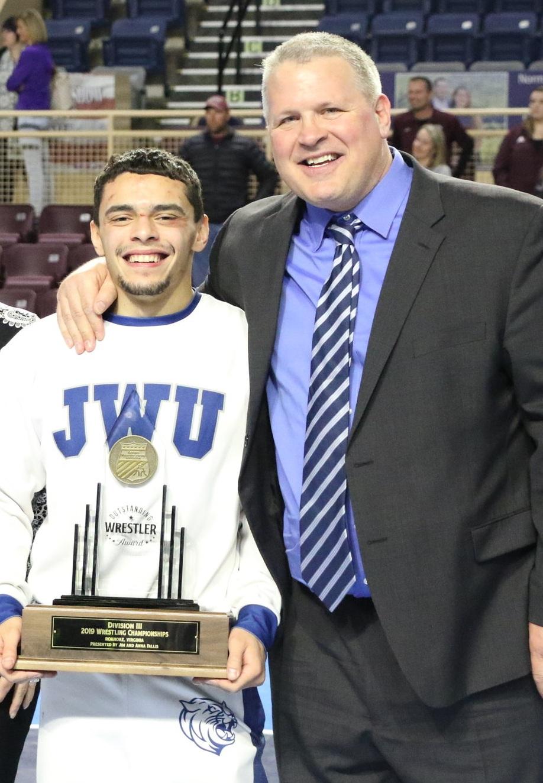 Jay Albis and Coach Lonnie Morris.