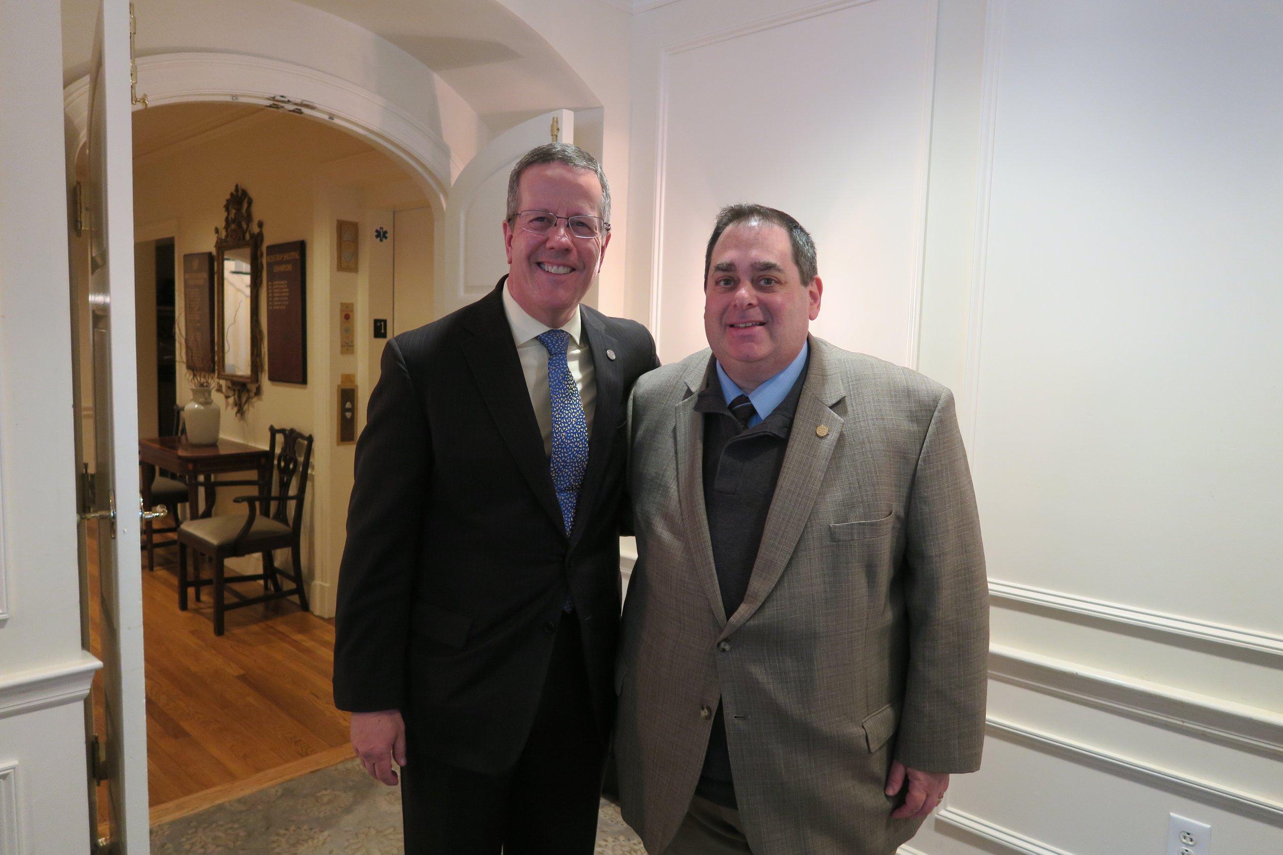 CMAA President & CEO, Jeff Morgan and Professor Matt Samel