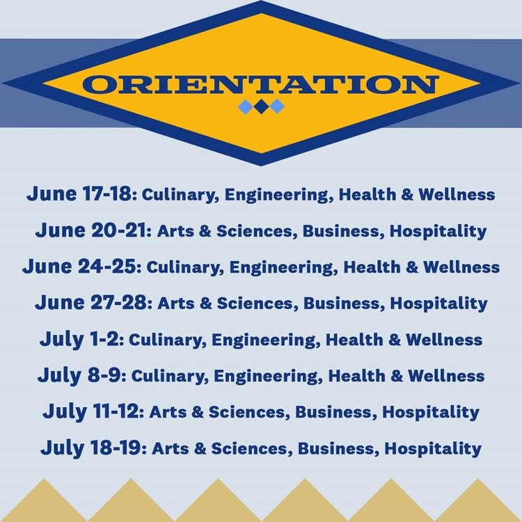 View and download      JWU's Summer Orientation daily schedule.