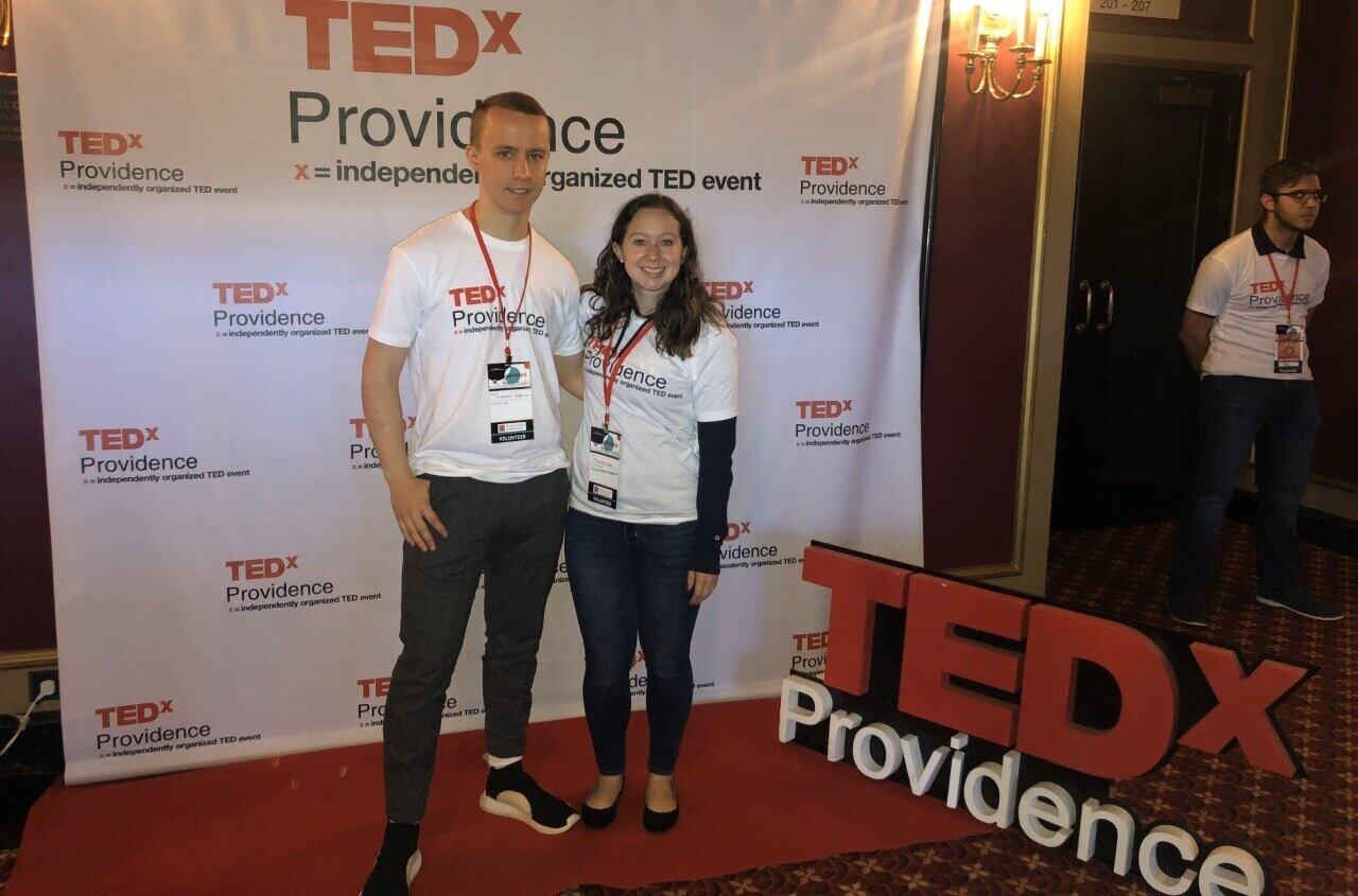 College of Hospitality Management student Simeon Langerman '20 and current graduate student and alum Miranda Zeko '19, two e-board members of the National Society of Minorities in Hospitality, volunteered at the TEDx event on October 5. They were able to attend a number of the talks and networked with some of the guest speakers.