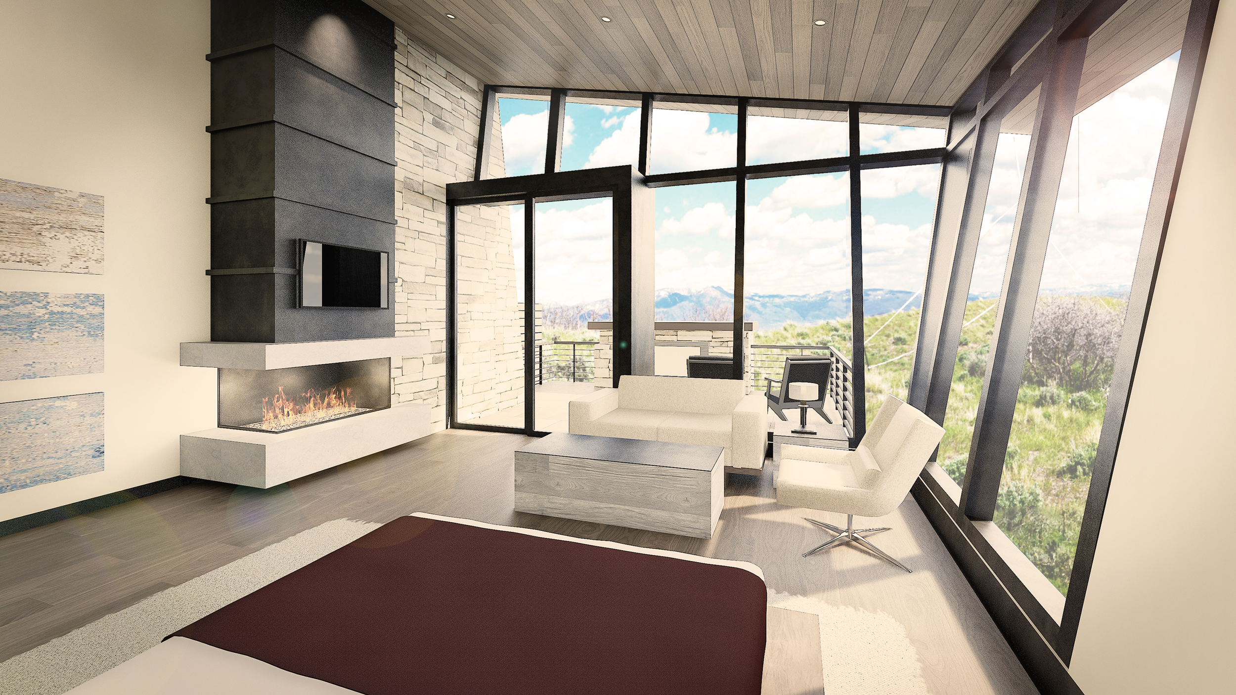 Crisp, clean and functional - set amidst the most incredible views of park city