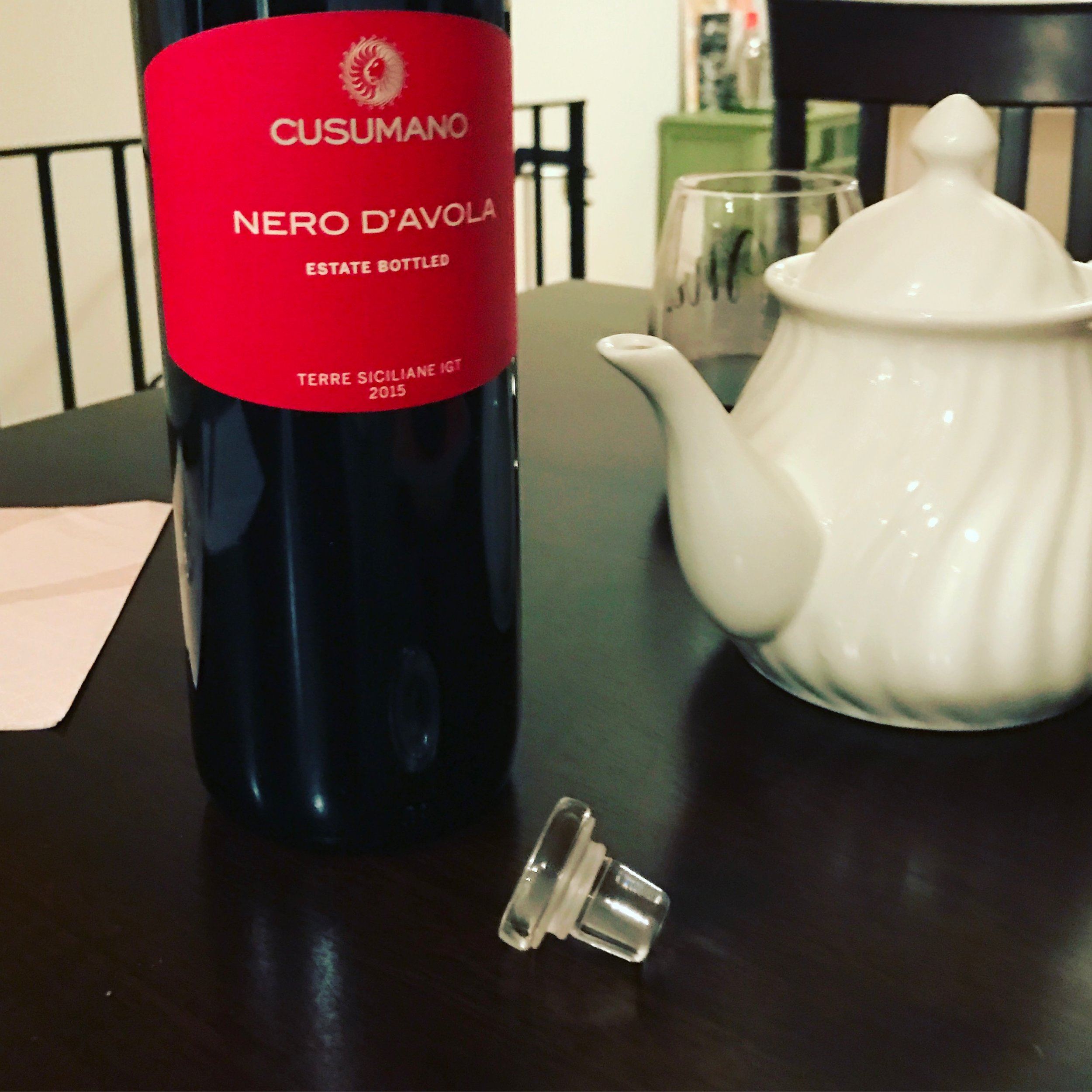 Who needs a cork, or a corkscrew for that matter, when there's a crystal glass stopper already on your bottle of wine.