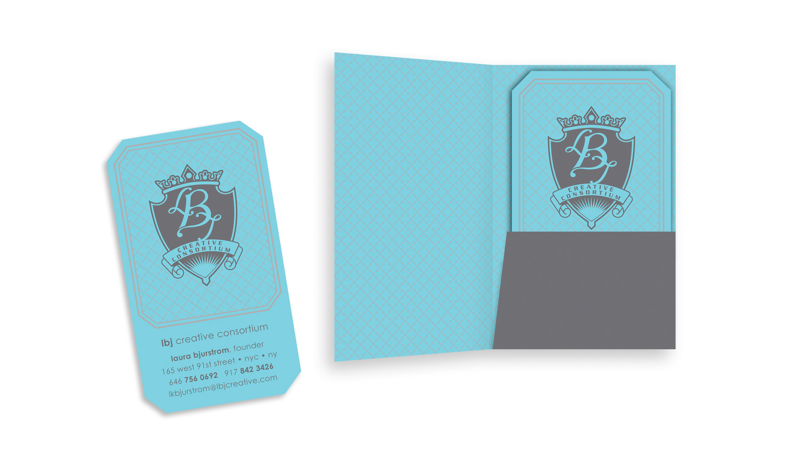 LBJ Business Card and Custom Folder