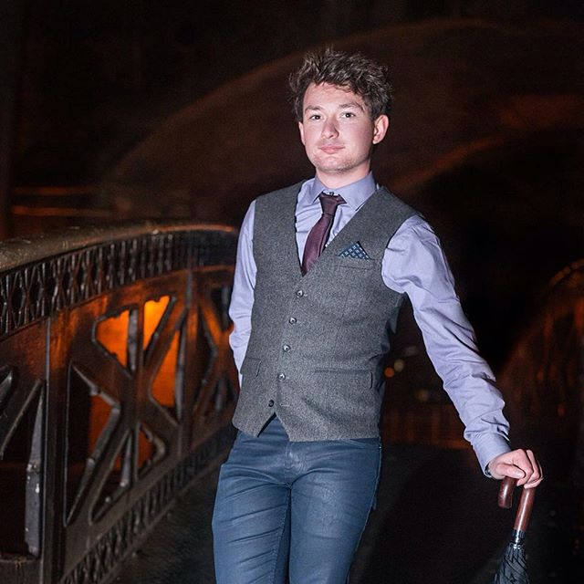 Our pianist Sam looking suave with his #umbrella, because we couldn't fit a #piano on the #bridge. #band #music #headshot #portrait #night #grunge #musician #model #meninsuits #formalwear #functionband #weddingband