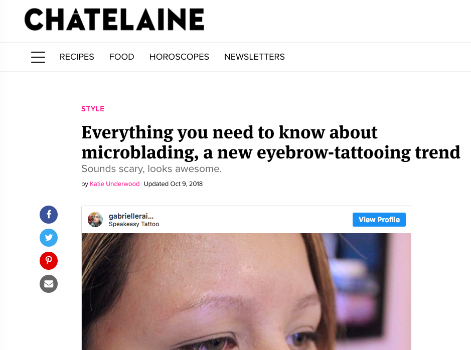 Chatelaine- Microblading
