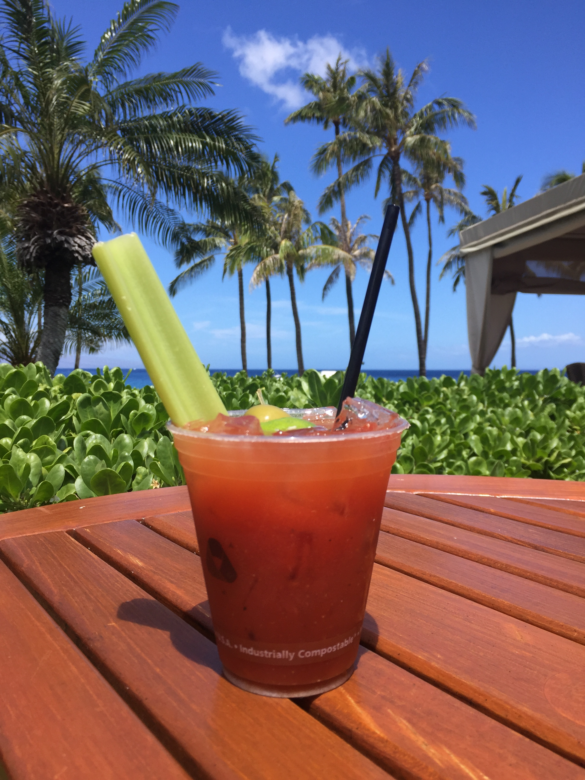 Standard Bloody Mary from the Westin, Maui's pool bar. I had quite a few of these as well!
