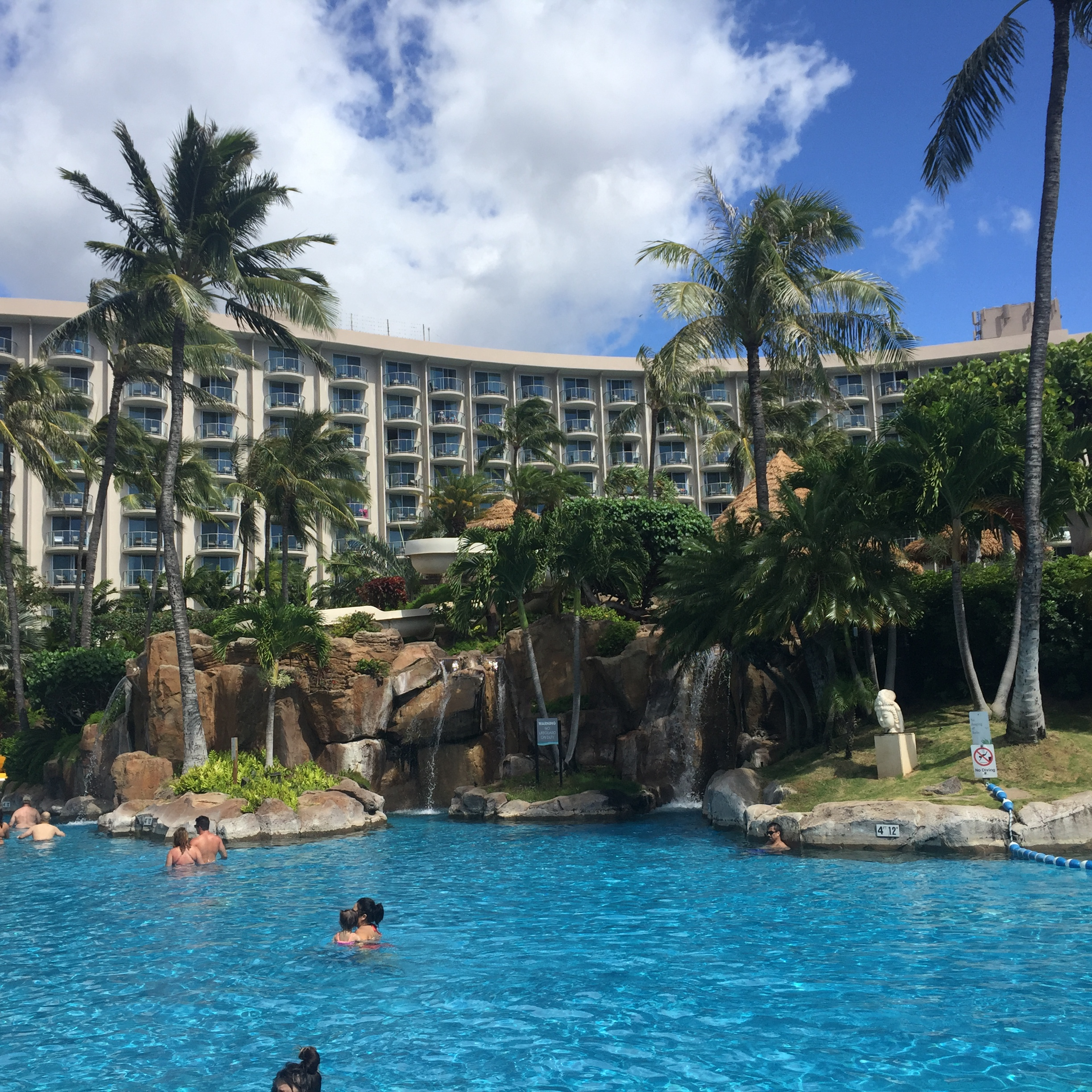 Only one of the pools at the Westin, Maui