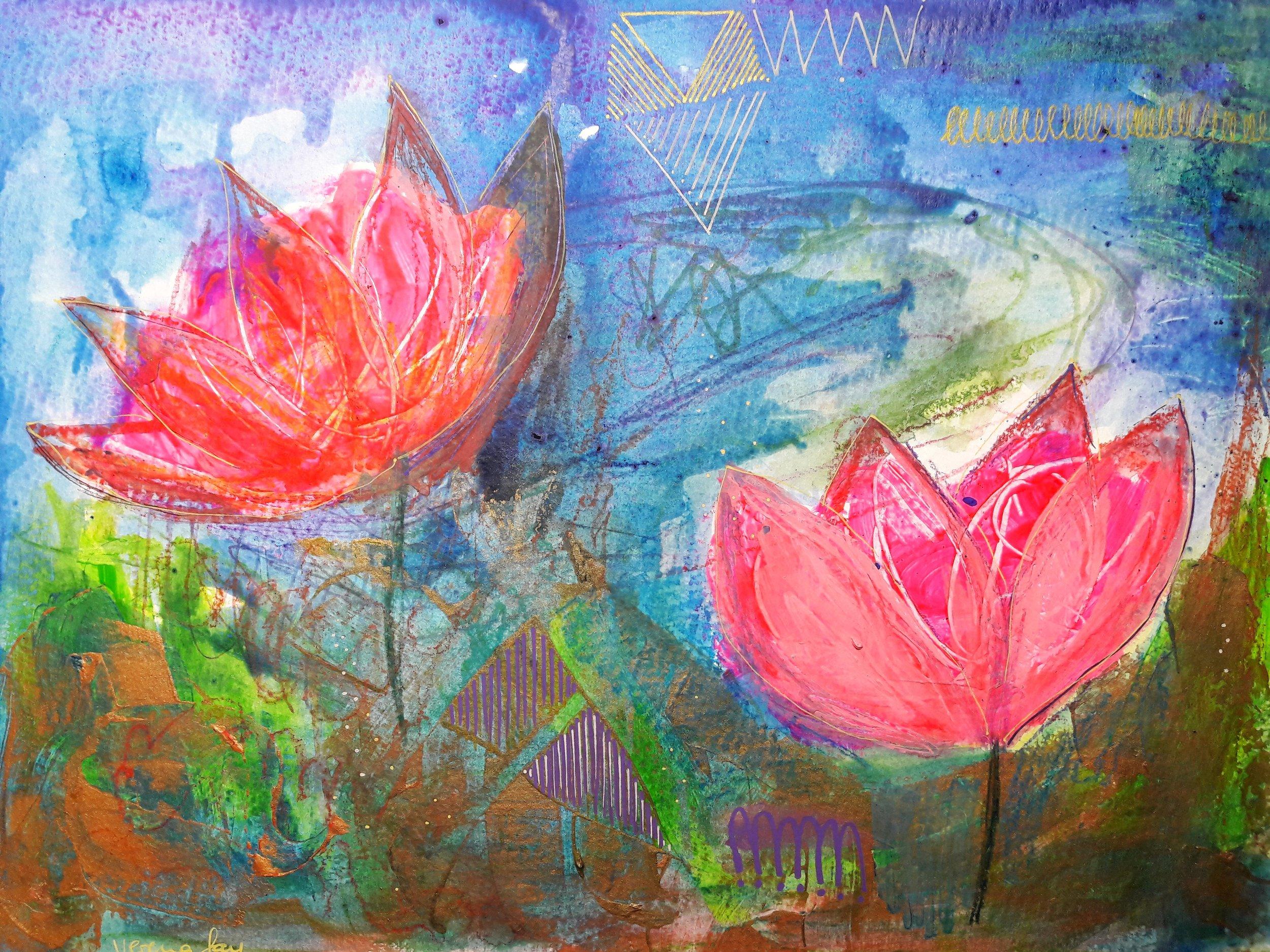 WATERLOVE Acrylic on Paper 360g/m2 24 x 32 cm | 9.4 x 12.5 in