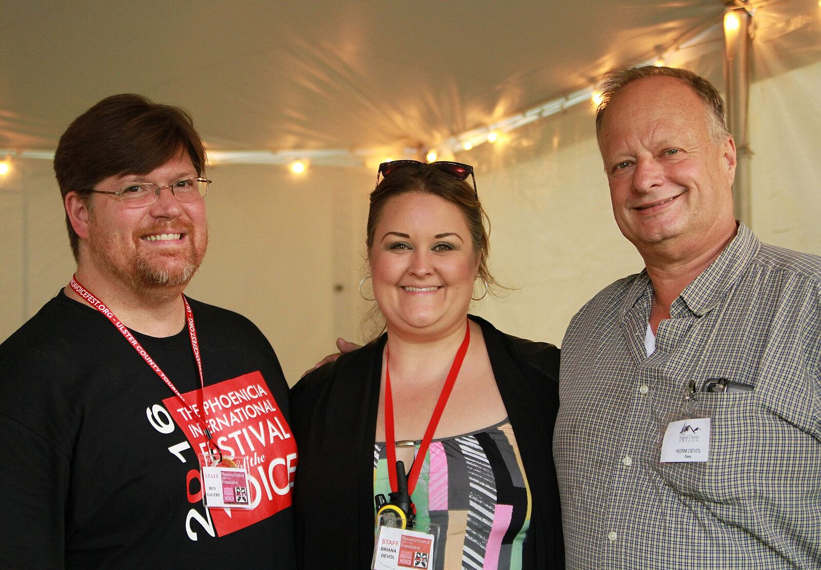 Three of our fantastic volunteers during the Phoenicia Festival of the Voice 2016.