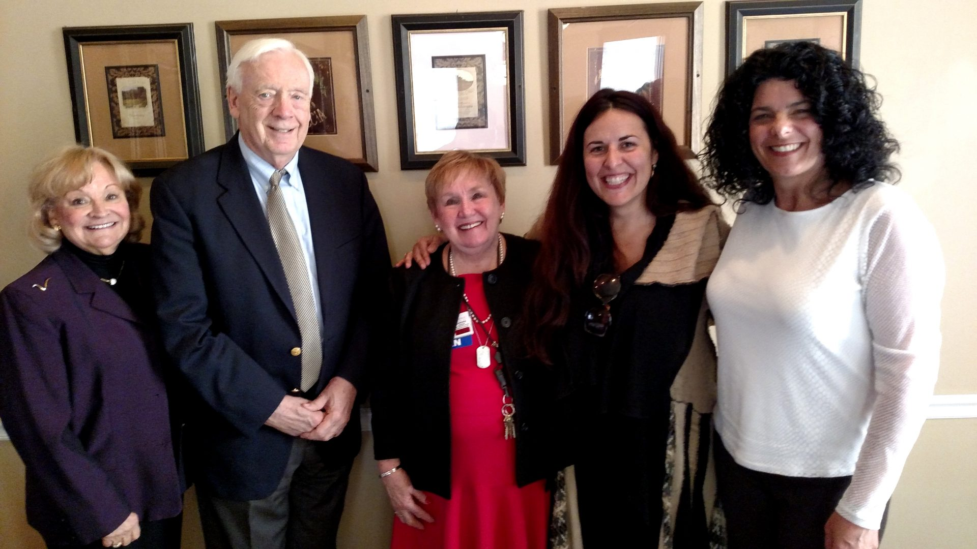L-R: Beverly and Frank Finnegan, Sandra Horan RN,BSN, Phoenicia International Festival of the Voice Chief Executive Director Maria Todaro and Tulip Ball Chairwoman Marisa Perez-Rogers. Photo provided