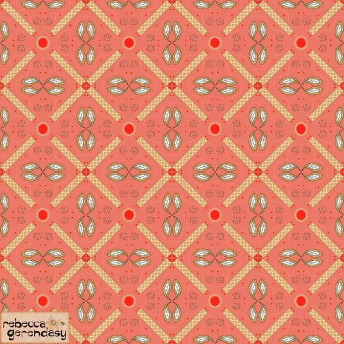 Desert Rose  tile design.